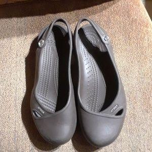 Crocs Brown Slip On Flats